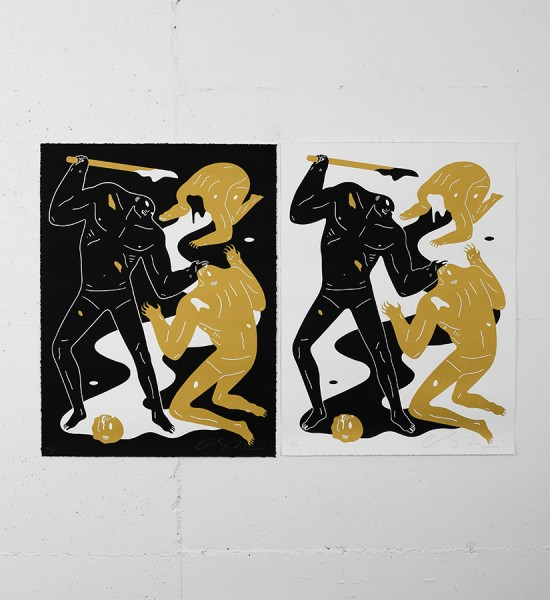 Cleon-Peterson-Violence-Print-Art-Black-Gold-SET