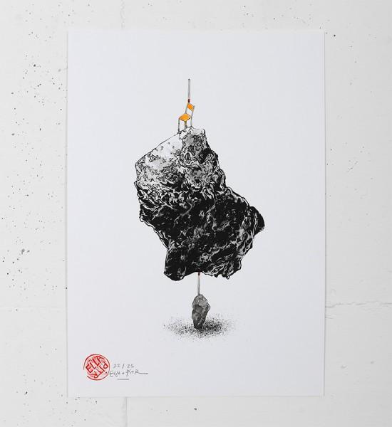 Ella-Pitr-Oeuvre-Art-Cailloux-Pierre-Serigraphie-Chaise-Saint-Etienne-3