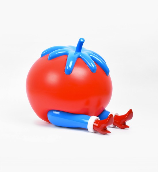 "Entitled ""Give up"", this tomato lamp by Parra (Piet Janssen) is an edition of 500. Made in 2017, it is a rechargeable battery and a fonction to have 3 brightness intensities. Format : 11,2 x 11 x 14,3 inches (28,5 x 28 x 36,5 cm). Delivered with the original package and his charger 220 V. The artist hasn't published a certificate of authenticity for this artwork."