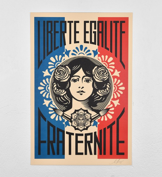 shepard-fairey-obey-giant-Liberte-Egalite-Fraternite-Offset-print-signed-by-the-artist-available-sold-art-soldart.com