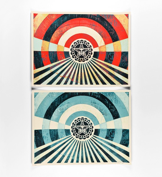 shepard-fairey-obey-giant-tunnel-vision-version-2-set-alternate-gold-and-alternate-blue-version-artworks-art-screen-prints-2018-limited-edition-700