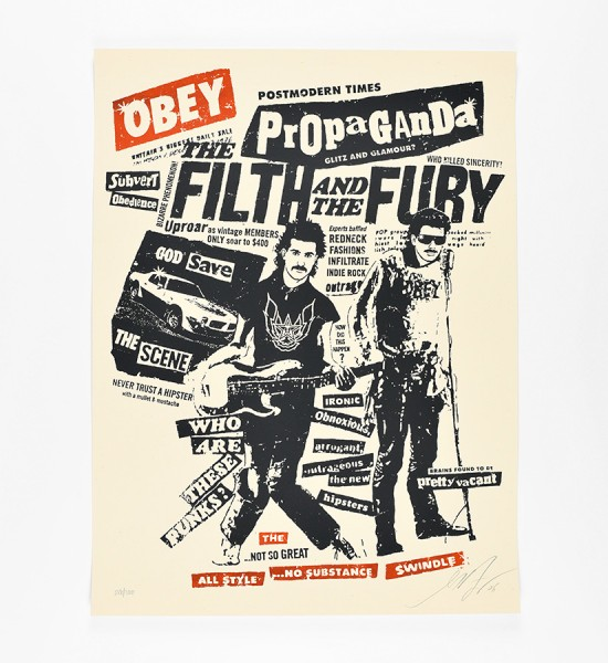 shepard fairey obey giant Fith and fury artwork screen print oeuvre art 2006 limited edition 300