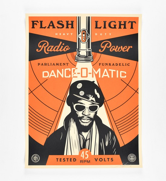 shepard fairey obey giant George Clinton flash light artwork screen print oeuvre art 2016 limited edition 450