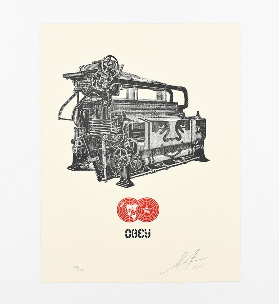 shepard fairey obey giant Obey loom letterpress artwork art 2015 limited edition 450