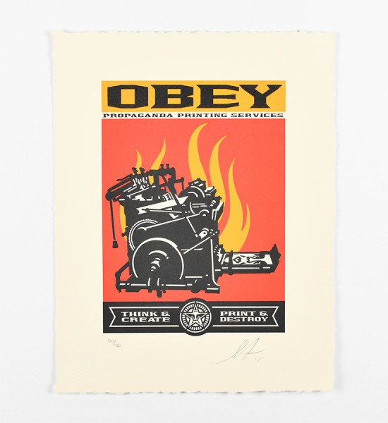 shepard fairey obey giant Print and destroy letterpress artwork art letterpress 2015 limited edition 450