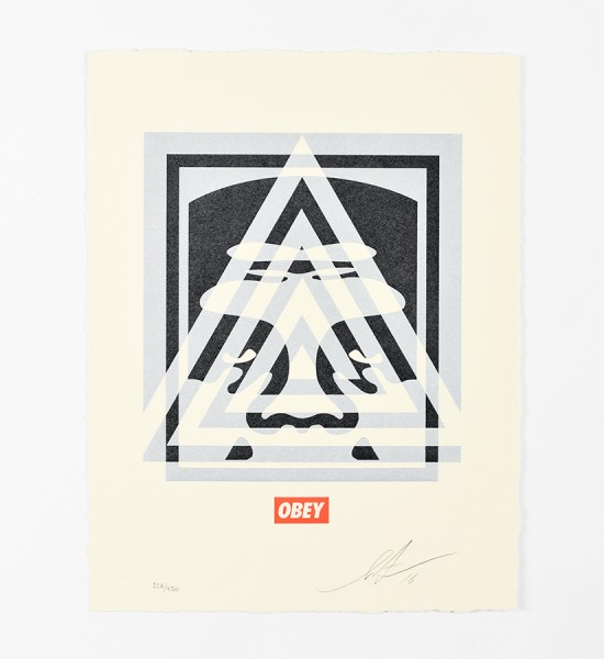shepard fairey obey giant pyramid top icon letterpress artwork art letterpress 2016 limited edition 450