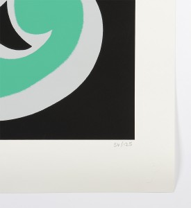 Ben-Eine-Letter-C-Screen print-green version Nelly-Duff-Art-2
