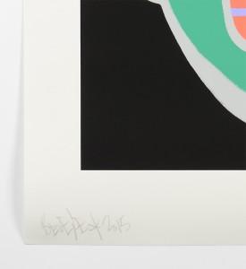 Ben-Eine-Letter-C-Screen print-green version Nelly-Duff-Art