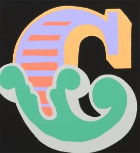 Ben-Eine-Letter-C-Screen print-green version Nelly-Duff-Art-3