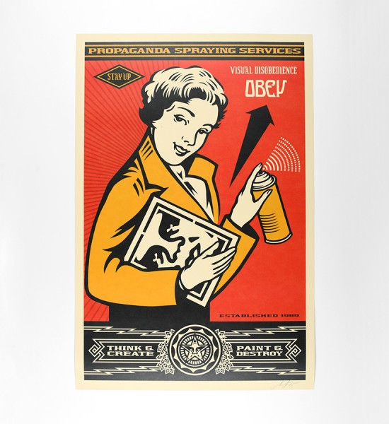 shepard fairey obey giant-Stay-Up-Girl-and-Print artwork offset print oeuvre art 2019 open edition