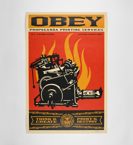 shepard fairey obey giant print and destroy artwork offset print oeuvre art 2019 open edition