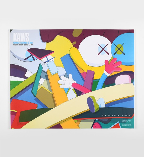 Kaws-Brian-Donnelly-exhibition-Gering-and-Lopez Gallery-NYC-artwork-oeuvre-art-2008-poster-edition