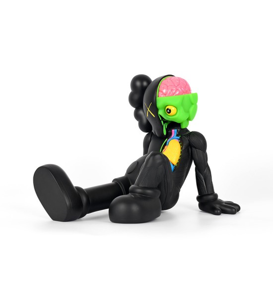 Kaws Brian Donnelly companion resting place black version limited edition art toys figurine medicom toys 2013