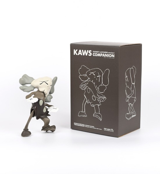 Kaws Brian Donnelly Robert Lazzarini companion brown version limited edition art toys figurine medicom toys 2010 box