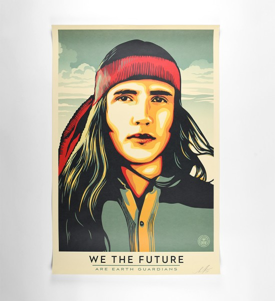 shepard fairey obey giant we the future are earth guardians offset print artwork oeuvre art 2018 open edition