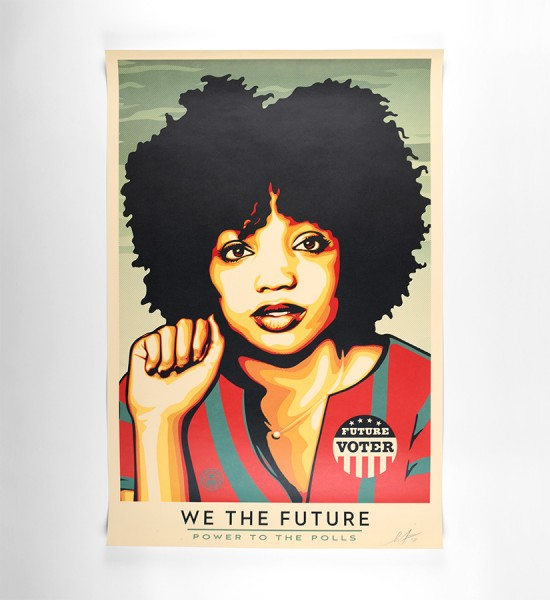 shepard fairey obey giant we the future power to the polls offset print artwork oeuvre art 2018 open edition