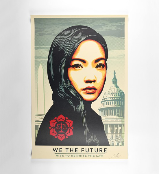 shepard fairey obey giant we the future rise to rewrite the law offset print artwork oeuvre art 2018 open edition