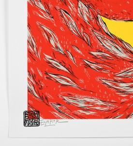 Ella-Pitr-serigraphie-oeuvre-OISEAUX-DE-PRINTEMPS-jaune-art-2