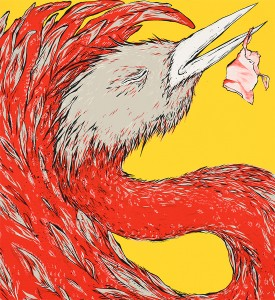 Ella-Pitr-serigraphie-oeuvre-OISEAUX-DE-PRINTEMPS-jaune-art-4