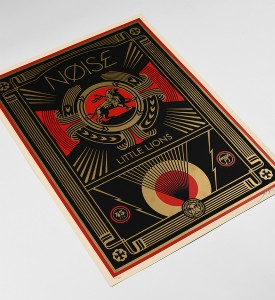 Shepard-Fairey-OBEY-Noise-Little-Lions-2014-Screen-print-Numbered-Edition-2
