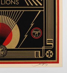 Shepard-Fairey-OBEY-Noise-Little-Lions-2014-Screen-print-Numbered-Edition-4