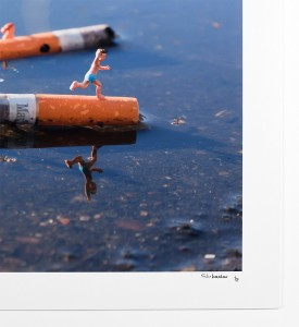 Slinkachu-Displeasure-Beach-Woolwich-London-2011-print-Andipa-Gallery