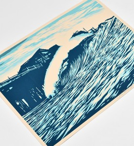 SHEPARD-FAIREY-OBEY-GIANT-POP-WAVE-BLUE-SIGNED-PRINT-RARE