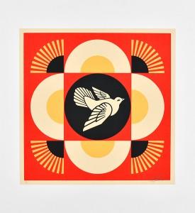 Shepard-Fairey-OBEY-Dove-Geometric-Set-Red