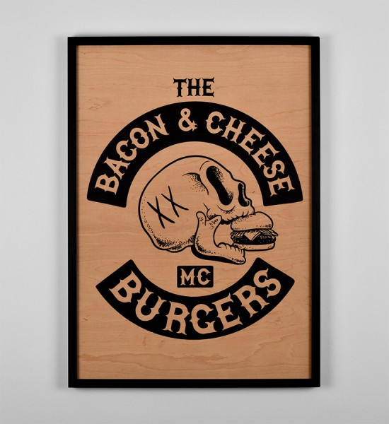 mcbess-bacon-and-cheese-burgers-art-artwork-giclee-print-wood-matthieu-bessudo-the-dudes-factory