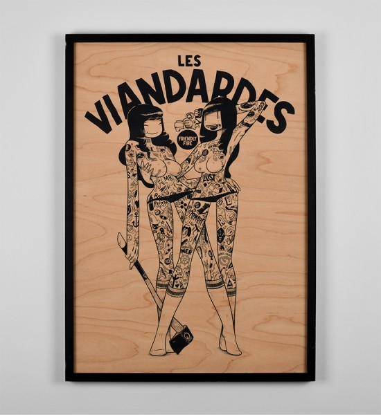 mcbess-les-viandardes-art-artwork-giclee-print-wood-matthieu-bessudo-the-dudes-factory
