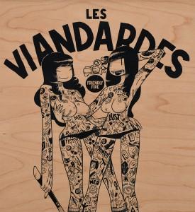 mcbess-les-viandardes-art-artwork-giclee-print-wood-matthieu-bessudo-the-dudes-factory-detail