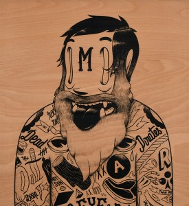 mcbess-russian-boxer-art-artwork-giclee-print-wood-matthieu-bessudo-the-dudes-factory-detail
