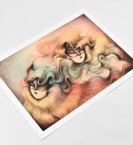 Miss-Van-Twin-Rainbow-Hair-print-signed-art-edition-5