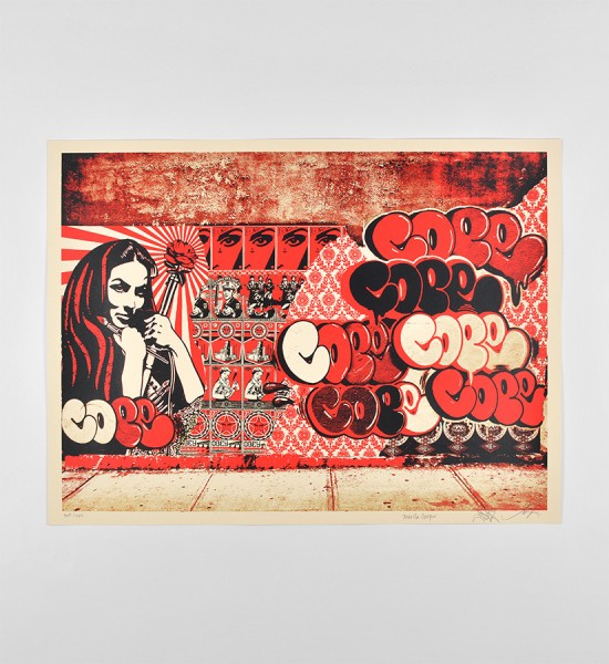 Shepard Fairey Obey Cope2 Martha Cooper screen print graffiti bronx street art urbain subway new york serigraphie