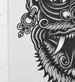Tom Gilmour Archfiend screen print tattoo skull serigraphie graffiti street art urbain london 3