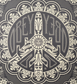 Shepard Fairey Obey Giant Peace bomber offset print artwork oeuvre art 2009 detail 1