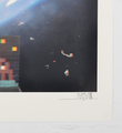 invader 3D Art4Space screen print street art urbain Rubik Cube space invader serigraphie 3