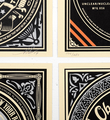 Shepard Fairey Obey 50 shades of black set 4 screen print serigraphie signed numbered limited edition sold art online gallery sell buy art_2