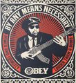 Shepard Fairey Obey Giant By any means necessary set screen print artwork serigraphie oeuvre art 2007 detail 2