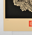 obey mandala ornament 2 black screen print shepard fairey serigraphie graffiti street art urbain 2