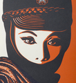 Shepard Fairey Obey Giant Mujer fatale letterpress print artwork oeuvre art 2015 detail 1