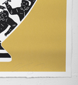 Cleon Peterson Trump 2017 gold or artwork screen print oeuvre serigraphie 2017 edition 175 signed signature