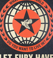 Shepard Fairey Obey Giant Let fury have the hour Film Poster screen print artwork oeuvre art 2013 detail 1