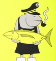 Grotesk Fisherfish screen print limited edition serigraphie artwork Kimou Meyer detail_4