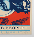 Shepard Fairey Obey Giant Arlene Mejorado Defend dignity artwork screen print oeuvre art serigraphie signed signature