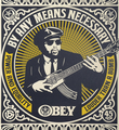 Shepard Fairey Obey Giant By any means necessary set screen print artwork serigraphie oeuvre art 2007 detail 1