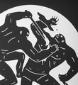 Cleon Peterson Destroying the Weak 2 screen print artwork serigraphie oeuvre detail 2