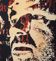 Vhils Alexandre Farto Corpocracy artwork enhanced screen print oeuvre art serigraphie rehaussee detail 2