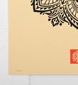 obey mandala ornament 2 cream screen print shepard fairey serigraphie graffiti street art urbain 2