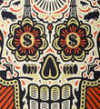 Shepard Fairey Obey Giant Ernesto Yerena Power and Glory Day of the Dead Skull set screen print artwork oeuvre art 2014 detail 1